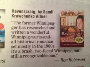 Ravenscraig listed as a Winnipeg Free Press Best Book of 2012