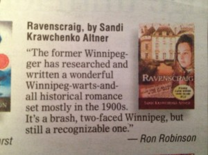Ravenscraig listed as a Winnipeg Free Press Best Book of 2012